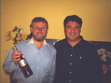 Wine guy and Stephane, Ste Marie